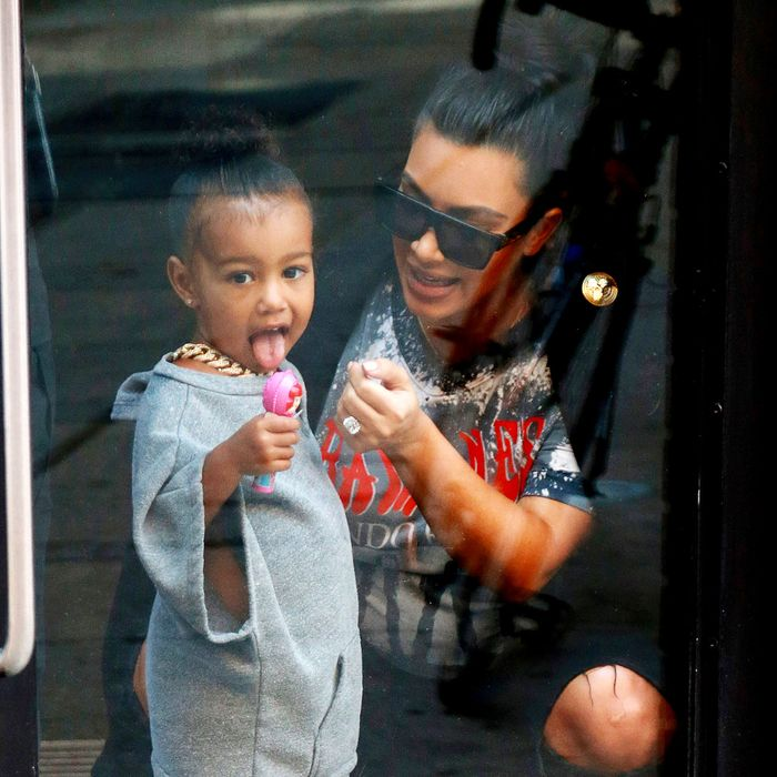North West and Kim Kardashian.