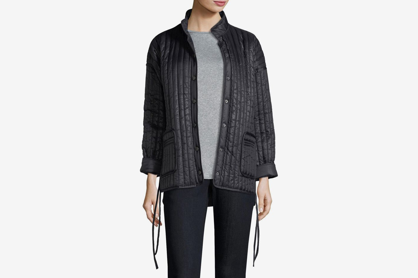 Eileen Fisher Quilted Recycled Nylon Kimono Coat