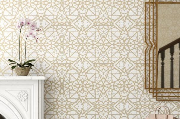 Mercer41 Rodas Shatter Geometric L And Stick Wallpaper Roll