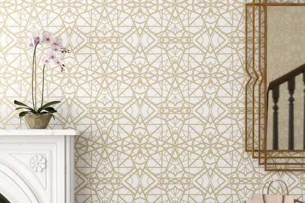 Mercer41 Rodas Shatter Geometric Peel and Stick Wallpaper Roll