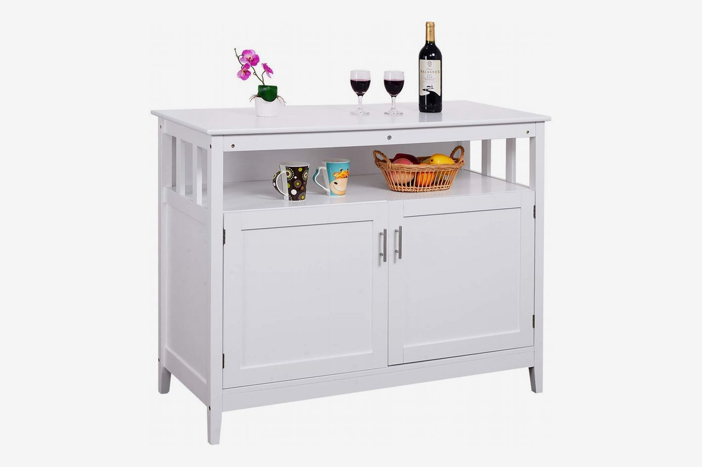 Costzon Kitchen Storage Sideboard Dining Buffet Server Cabinet