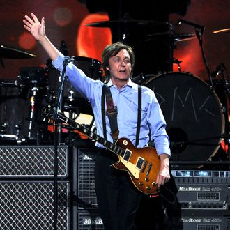 Paul McCartney performs onstage at the 54th Annual GRAMMY Awards