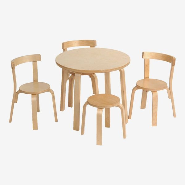 Svan Play with Me Toddler Table Set with 3 Chairs and Stool