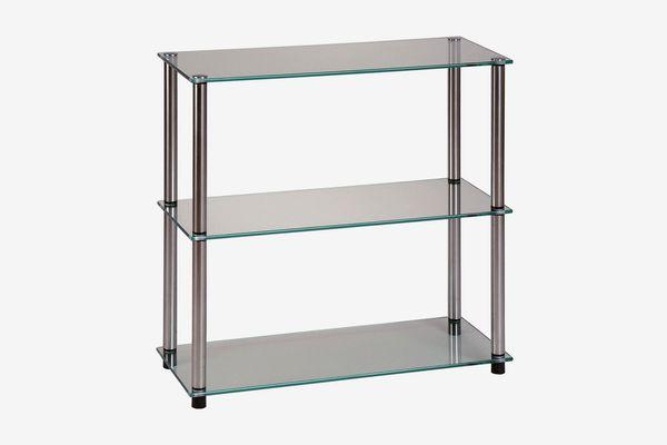 Convenience Concepts Designs2Go Go-Accsense 3-Shelf Glass Bookcase