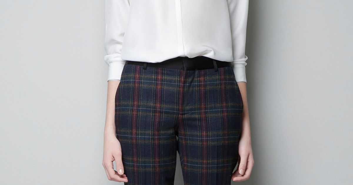 Best Bet: Zara Checked Trousers -- The Cut