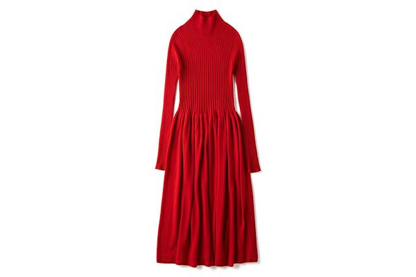 Mock Neck Long Sleeve Dress
