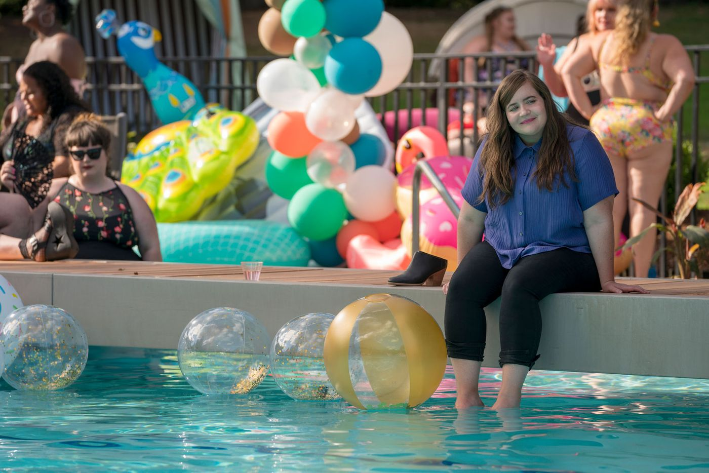 4ecad20cc8 How Hulu's 'Shrill' Made Its 'Fat Babe Pool Party' Episode