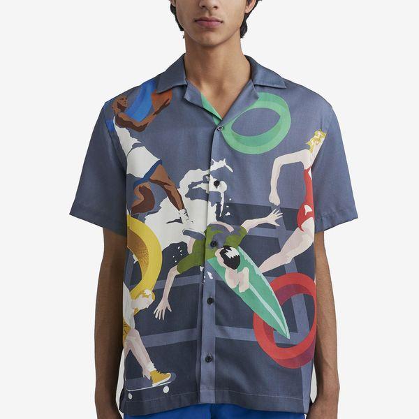 Canty Print S.C. Short-Sleeved Shirt Summer Capsule Print