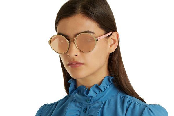 Prada Eyewear Round-Frame Metal Sunglasses