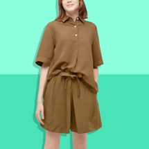 Uniqlo x JW Anderson Women's Linen-Blend Pullover Short-Sleeved Shirt