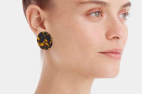 J.Crew Tortoise Disc Earrings