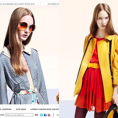 Topshop's original photo of Codie Young (left), and the new one (right).