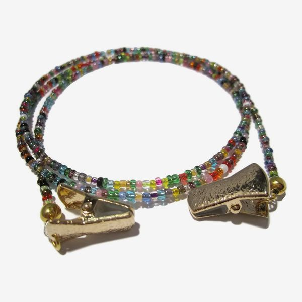 Beaded Gold-Clip Eyeglass Chain