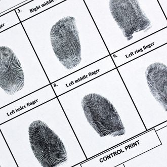 Fingerprints on authentic fingerprint form.