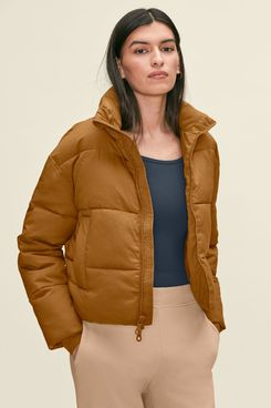Girlfriend Collective Saddle Crop Puffer