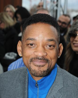 Will Smith attends the Louis Vuitton Menswear Fall/Winter 2014-2015 Show as part of Paris Fashion Week on January 16, 2014 in Paris, France.