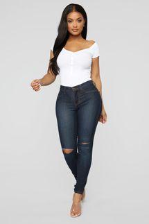 Fashion Nova Canopy Jeans - Dark Denim