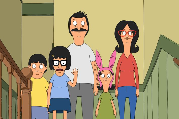 "BOB'S BURGERS: The Belcher family in the ""The Cook, the Steve, the Gayle & her Lover"" episode of BOB'S BURGERS airing Sunday, Jan. 10 (7:30-8:00 PM ET/PT) on FOX.  BOB'S BURGERS ™ and  © 2016 TCFFC ALL RIGHTS RESERVED."