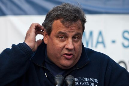 New Jersey Governor Chris Christie speaks at a joint press conference on November 4, 2012 in Hoboken, New Jersey. As New Jersey continues to clean up from Superstorm Sandy, worries are now growing for a new storm set to hit the state on November 7th.
