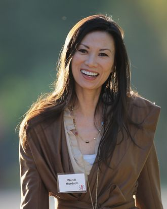 SUN VALLEY, ID - JULY 06: Wendi Deng Murdoch attends the Allen & Company Sun Valley Conference on July 6, 2011 in Sun Valley, Idaho. The conference has been hosted annualy by the investment firm Allen & Company each July since 1983. The conference is typically attended by many of the world's most powerful media executives. (Photo by Scott Olson/Getty Images)