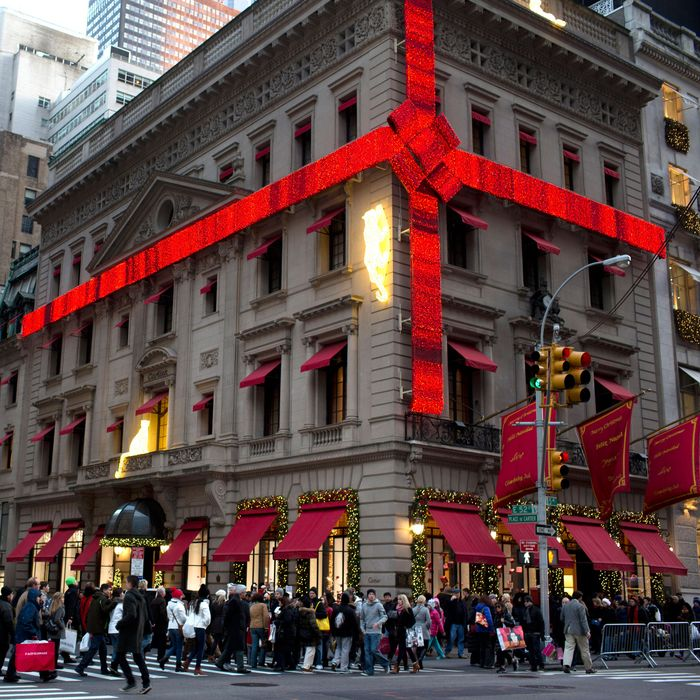 Cartier's holiday decorations at 52nd and Fifth