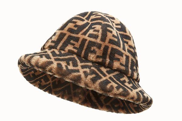 Fendi Brown Shearling Hat