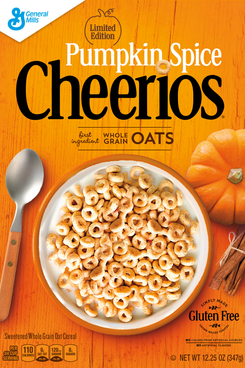 Pumpkin Spice Cheerios, a sign of the end times.
