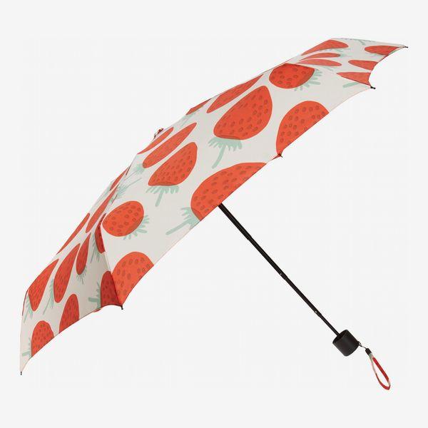 Marimekko Mini Mansikka Strawberry Print Manual Umbrella
