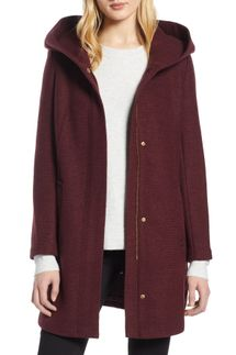 Cole Haan Signature Textured Hooded Coat