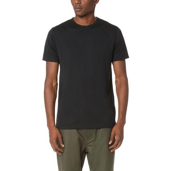 Sunspel Men's Cotton Riviera Crew Neck, Black