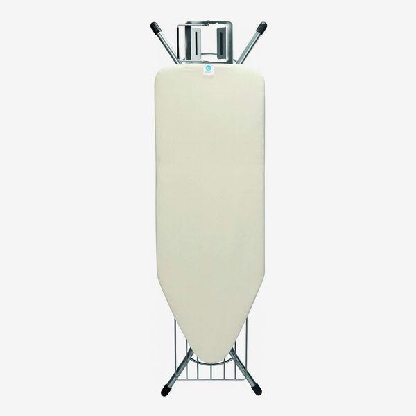 Brabantia Steam Rest Ironing Board with Linen Rack, C - Wide, Ecru