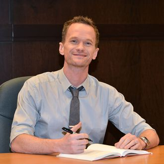 LOS ANGELES, CA - OCTOBER 24: Neil Patrick Harris signs copies of his new book