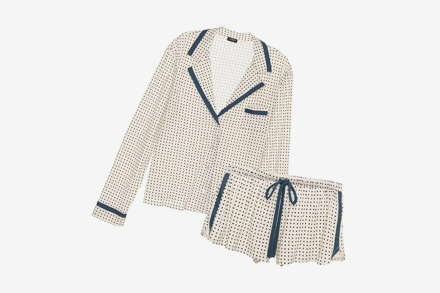 Cosabella Bella Printed Long Sleeve Top & Boxer Pajama Set