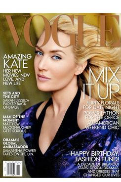 Kate Winslet on the cover of US Vogue magazine November 2013