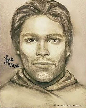 Sketch of the man who allegedly threatened Stormy Daniels in 2011.