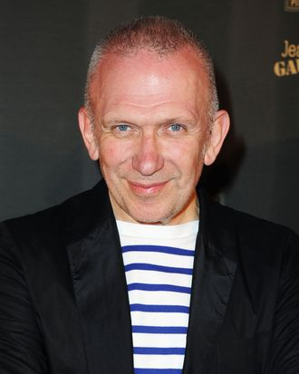 Designer Jean Paul Gaultier attends the Piper-Heidsieck Dinner during the 64th Annual Cannes Film Festival at Marche Forville on May 13, 2011 in Cannes, France.