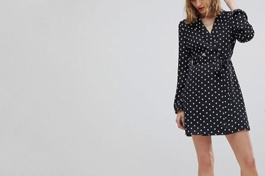 Reclaimed Vintage Inspired Polka Dot Tux Dress