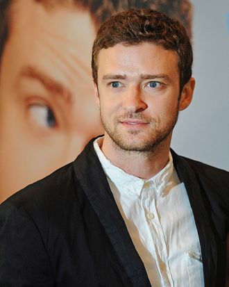 US actor Justin Timberlake poses during a photocall for the movie