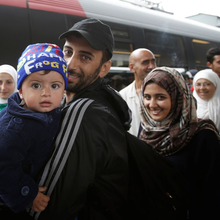 Migrants From Budapest Pass Through Vienna Train Station