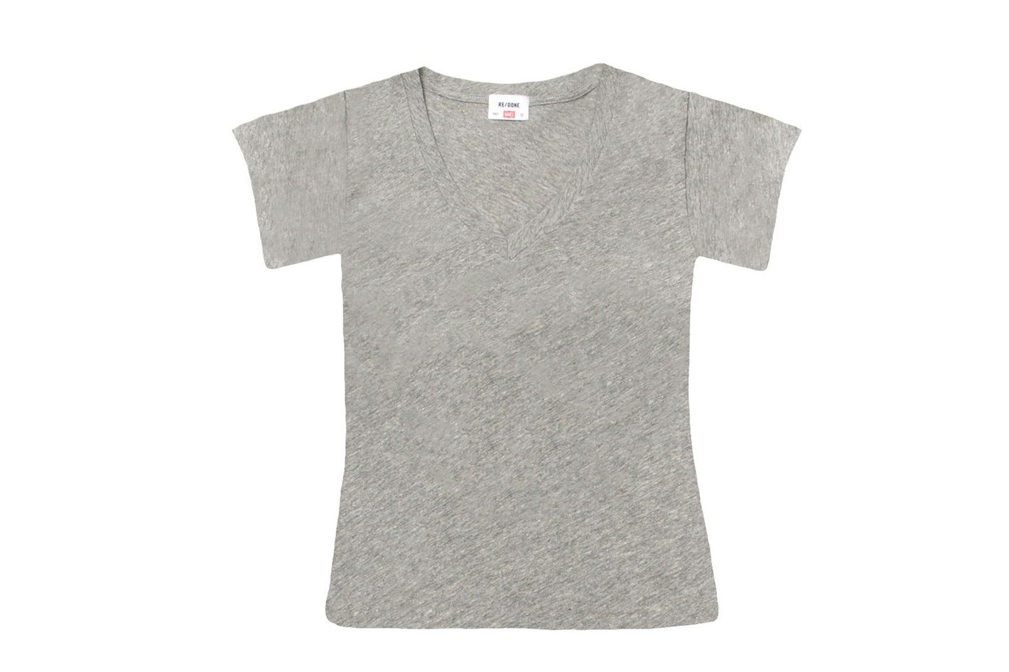 The 1960s Slim V Neck Tee - Heather