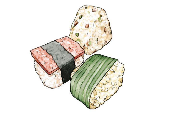 Hanamizuki's onigiri.