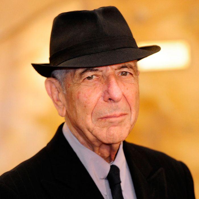 Canadian singer Leonard Cohen arrives at