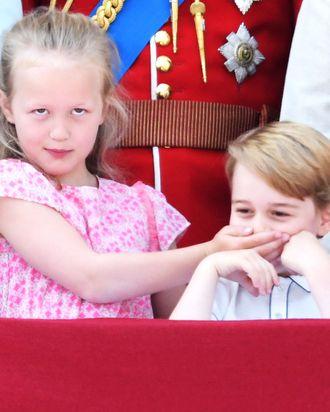 Savannah Phillips and Prince George.