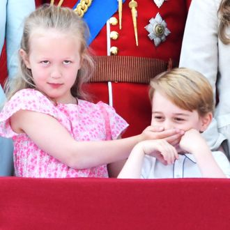 Savannah Phillips and Prince George.