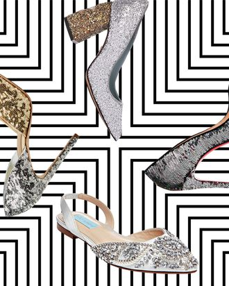 87b2dcaa448 There s a glitter takeover happening in fashion right now. Make your wedding  aisle your personal catwalk with a pair of sparkly shoes.