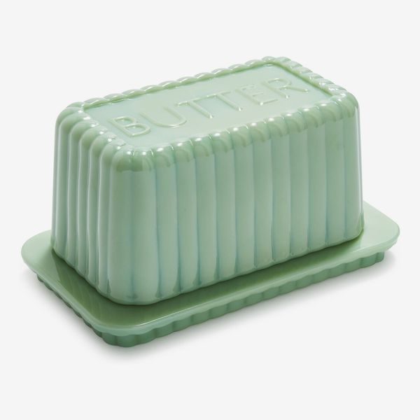 Sur La Table Jadeite Butter Dish