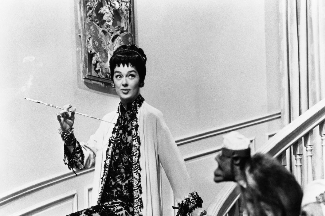 ca. 1958, Hollywood, Los Angeles, California, USA --- Rosalind Russell stars as Mame Dennis in the 1958 film Auntie Mame.