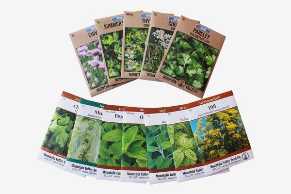 Living Whole Foods Assortment of 12 Culinary Herb Seeds