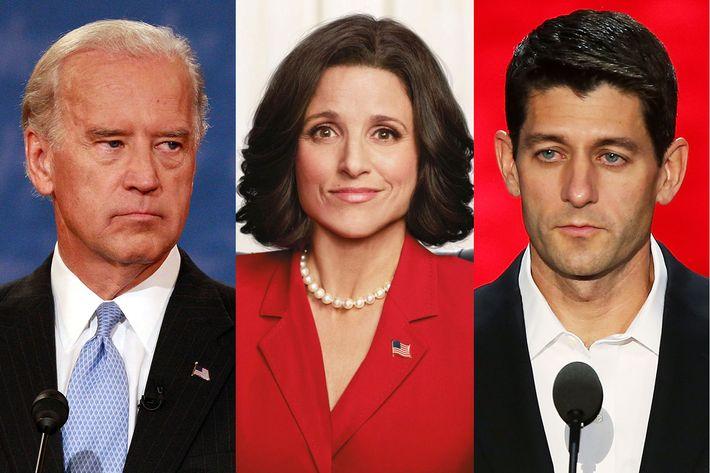 Joe Biden, Selina Meyer and Paul Ryan
