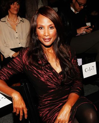 NEW YORK, NY - FEBRUARY 10: Model/actress Beverly Johnson attends the Nicole Miller Fall 2012 fashion show during Mercedes-Benz Fashion Week at The Studio at Lincoln Center on February 10, 2012 in New York City. (Photo by Cindy Ord/Getty Images for Mercedes-Benz Fashion Week)